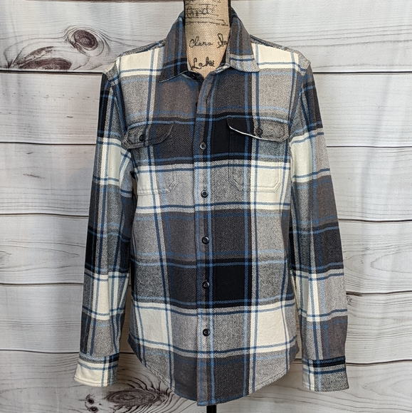 AMERICAN EAGLE OUTFITTERS Blue Gray Plaid Shirt M